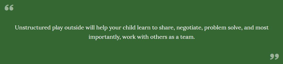 benefits of children and nature